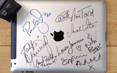iPad autographed by Doctor Who actors