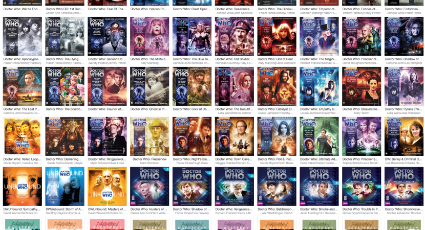 lots of thumbnail images of Big Finish CD art